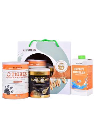 Picture of O'Tigres Energy Health Bundle A (Black Bean Low Cane Sugar + Black Sesame)