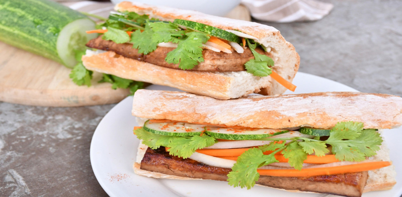 Vietnamese Spicy Tofu Banh Mi