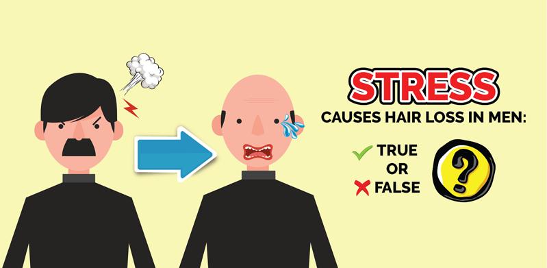 Stress Causes Hair Loss In Men: True or False?