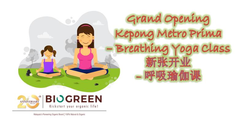 Biogreen Kepong Grand Opening - Yoga Class