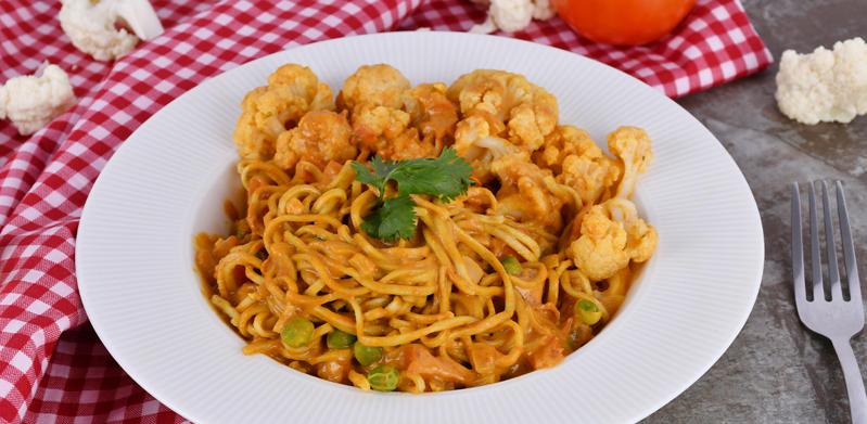 Cauliflower Dry Curry Noodles