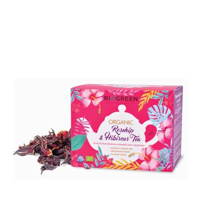 Picture of Biogreen Organic Rosehip & Hibiscus Antioxidant Tea 10's x 3g