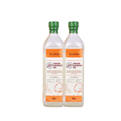 Picture of 2 x Biogreen 100% Organic Virgin Coconut Oil (HALAL) 700ml [Expiry 28/05/2021]