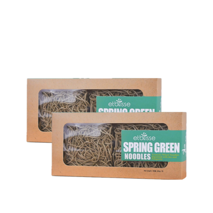 Picture of 2 x etblisse Spring Green Noodles (HALAL) 4 pieces x 62.5g