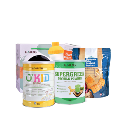 Picture of O'Kid Picky Eater Package (O'Kid Oatmilk + Supergreen + Multigrain Crackers)