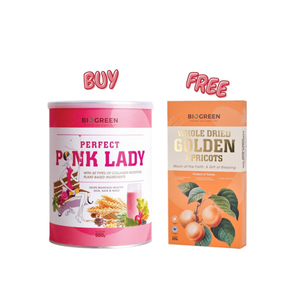 Picture of [Free Apricot] Biogreen Perfect Pink Lady Oatmilk 650g Free Whole Dried Golden Apricots 220g