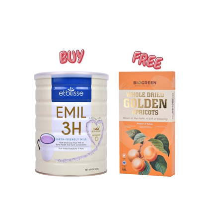 Picture of [Free Apricot] Etblisse Emil 3H Purple Oat Bran Milk 600g Free Whole Dried Golden Apricots 220g
