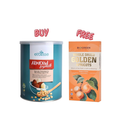 Picture of [Free Apricot] Etblisse Almond Soymilk 700g Free Whole Dried Golden Apricots 220g
