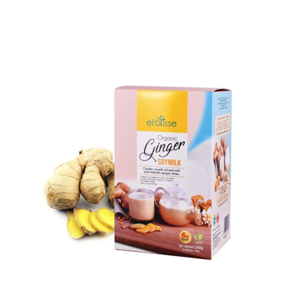 Picture of Etblisse Organic Ginger Soymilk (HALAL) Sachet Box 8's x 30g / 240g