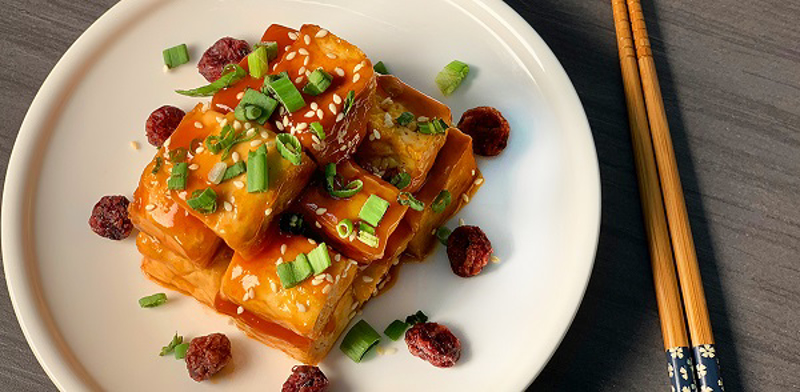 Cranberries Enzymes (Sweet and Sour) Tofu