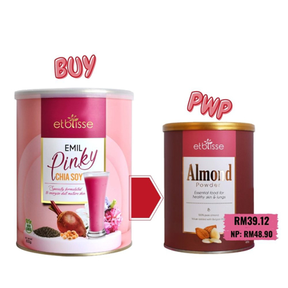 Picture of [March21] Etblisse Emil Pinky Chia Soy 800g PWP Etblisse Almond Powder 400g