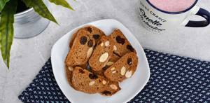 Vegan Biscotti with Almond and Cranberries