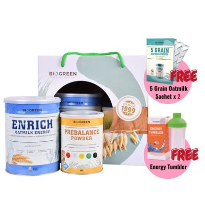 Picture of Health Bundle A (Enrich Oatmilk + Prebalance Powder) [Free O'Soy Plus Low Cane Sugar Trial Sachet 30g x 2]