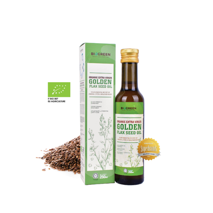 Picture of Biogreen Organic Extra Virgin Golden Flaxseed Oil (HALAL) 250ml