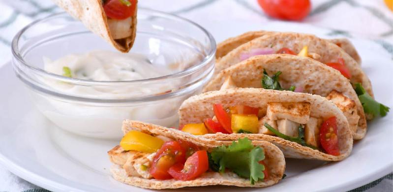 5-Ingredient Wheat Germ Tortilla Wrap