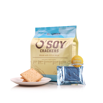 Picture of Biogreen O'Soy Crackers (HALAL) 16 Small Packs x 30g