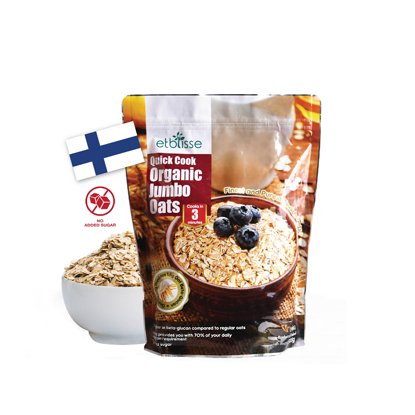 Picture of etblisse Quick Cook Organic Jumbo Oats (HALAL) 500g