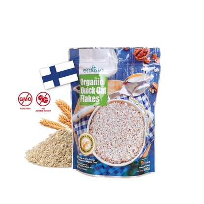 Picture of etblisse Organic Quick Oat Flakes (HALAL) 500g (No Cooking Required)
