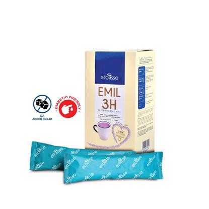 Picture of etblisse Emil 3H Purple Oat Bran Milk (HALAL) Sachets Box 9's x 32g